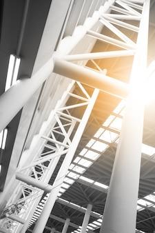 Budynek przemysłowy - abstrakcyjne tło architektoniczne
