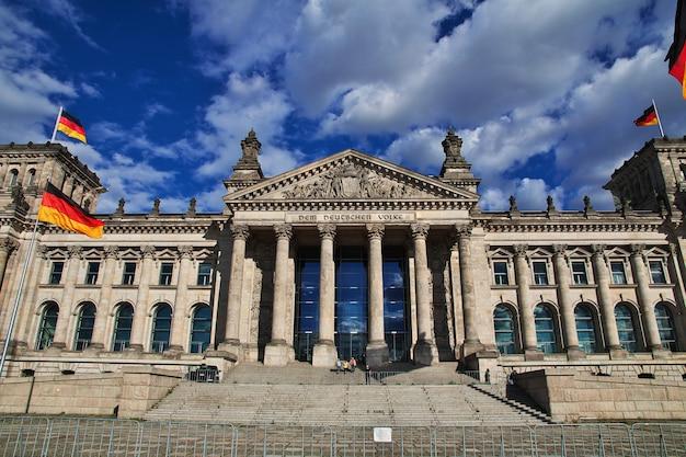 Budynek reichstagu, berlin, niemcy