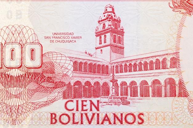 Budynek uniwersytecki z boliwijskich pieniędzy