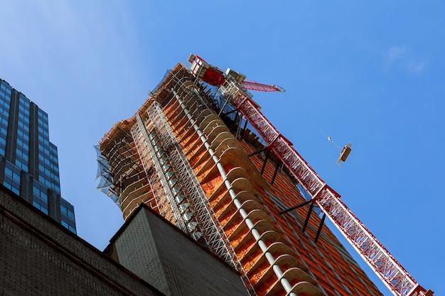 Budynek w budowie na manhattanie