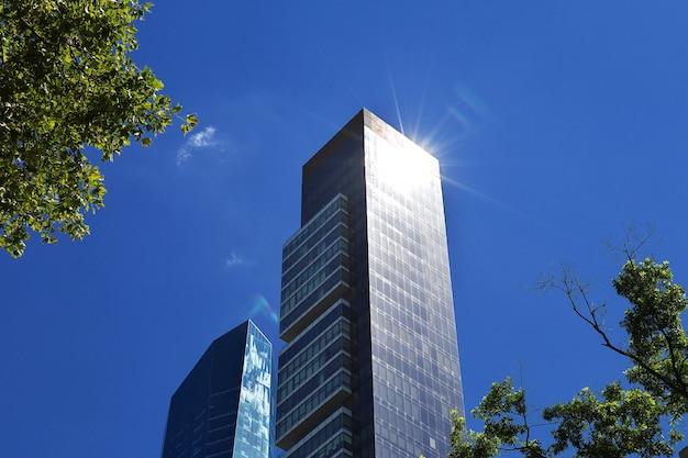 Budynek w madison square w nowym jorku, stany zjednoczone