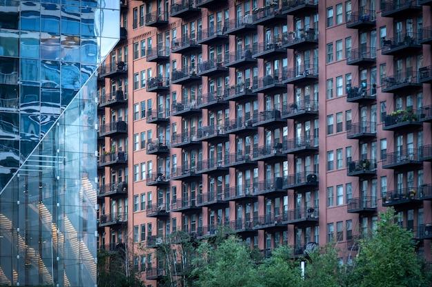 Budynki chicago w mieście