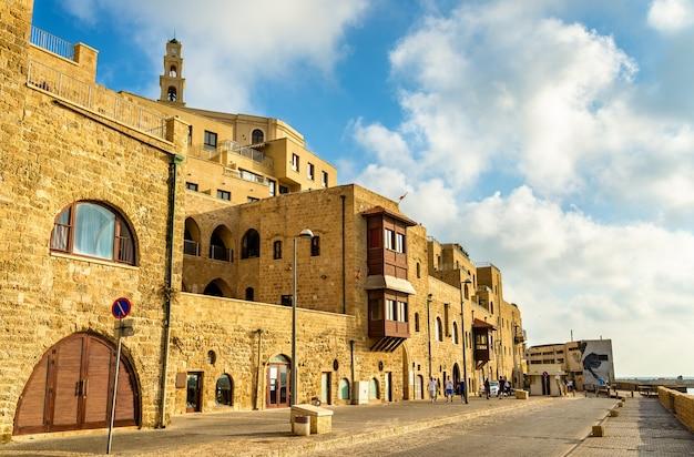 Budynki na starym mieście w jaffie - tel awiw, izrael
