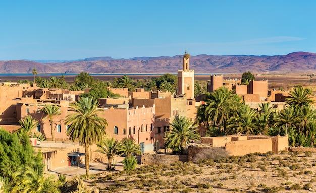 Budynki na starym mieście w ouarzazate, mieście w południowo-środkowym maroku. północna afryka