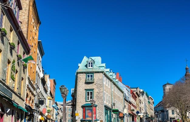 Budynki na starym mieście w quebec city - kanada