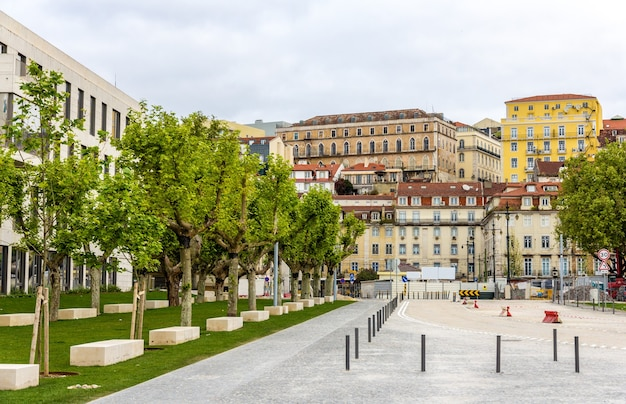 Budynki w centrum lizbony - portugalia