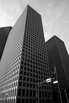 Budynków miasta w centrum houston w teksasie