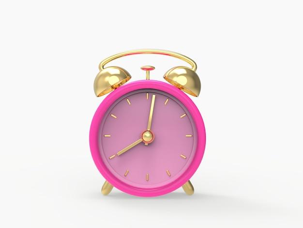Budzik w 3d. klasyczny styl. konceptualny wizerunek budzik, timepiece odpłacająca się 3d ilustracja