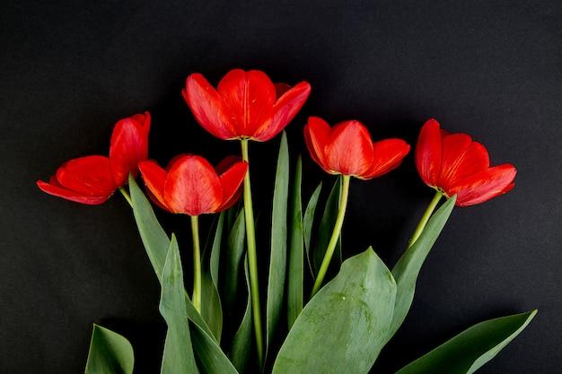 Bukiet czerwonych tulipanów