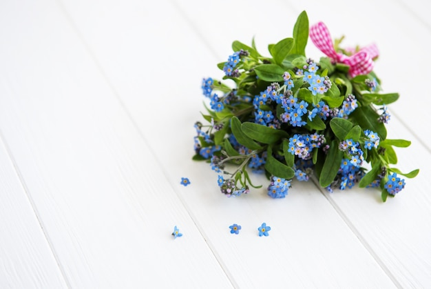 Bukiet kwiatów forget-me-nots