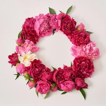 Bukiet kwiatów piwonii