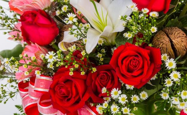 Bukiet kwiatów z bliska