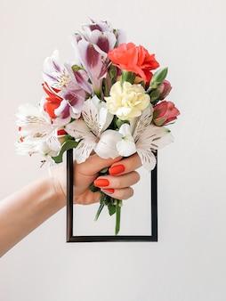 Bukiet kwiatowy lato kolorowe jasne kwiaty