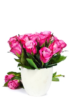 Bukiet róż w wazonie