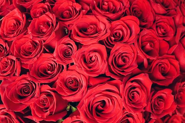 Bukiet róż. zbliżenie, widok z góry.