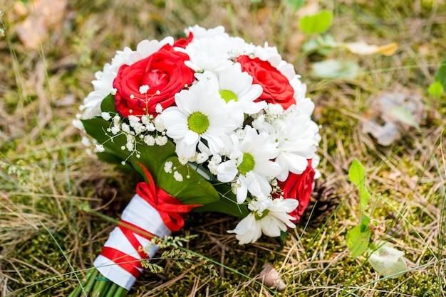 Bukiet ślubny kolorowy kwiat dla panny młodej