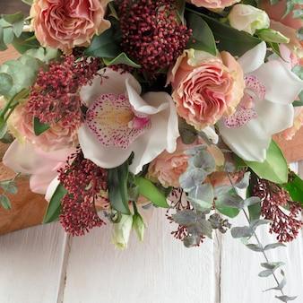 Bukiet ślubny, kwiaty dla panny młodej.