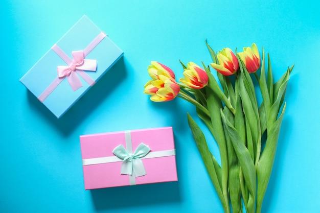 Bukiet tulipanów jako prezent na dzień matki marca walentynki dekoracje wielkanocne