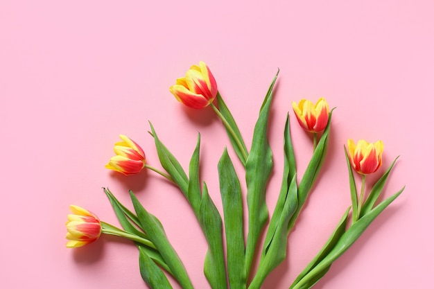 Bukiet Tulipanów Jako Prezent Na Dzień Matki Marca Walentynki Dekoracje Wielkanocne Premium Zdjęcia