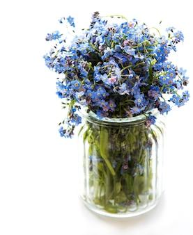Bukiet zapomnij o mnie nie kwiatów