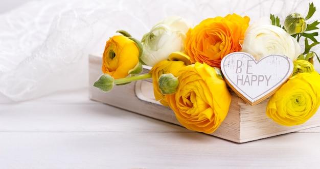 Bukiet żółty ranunculus