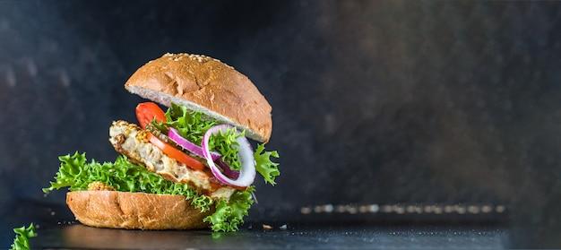 Burger kanapka mięso domowe grillowany kotlet
