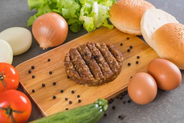 Burger składników