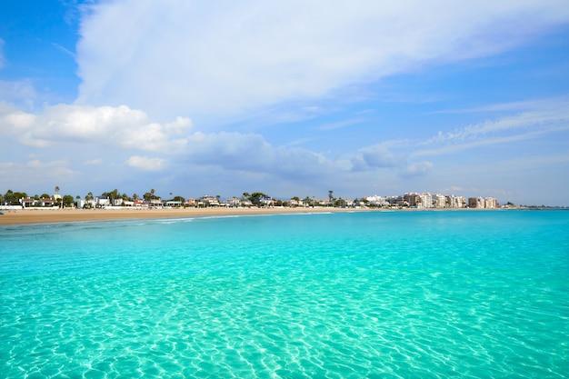 Burriana plaża w castellon hiszpania