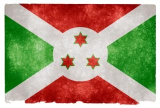 Burundi stars grunge flag