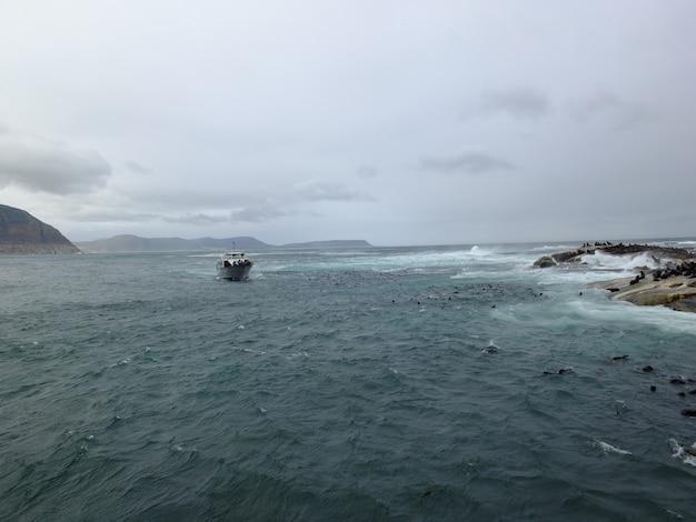 Burza na oceanie atlantyckim, republika południowej afryki