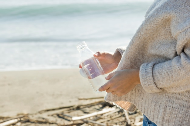 Butelka kolekcja kobieta od morza
