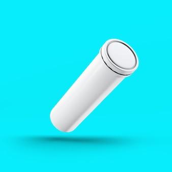 Butelka musująca renderowania 3d na białym tle na toscha