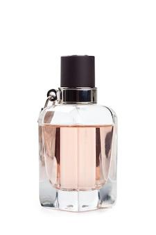 Butelka odizolowywająca na białym tle pachnidło