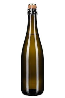 Butelka odizolowywająca na bielu szampan