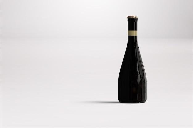 Butelka piwa na białym tle makieta - pusta etykieta, koncepcja oktoberfest.