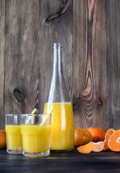 Butelka soku pomarańczowego