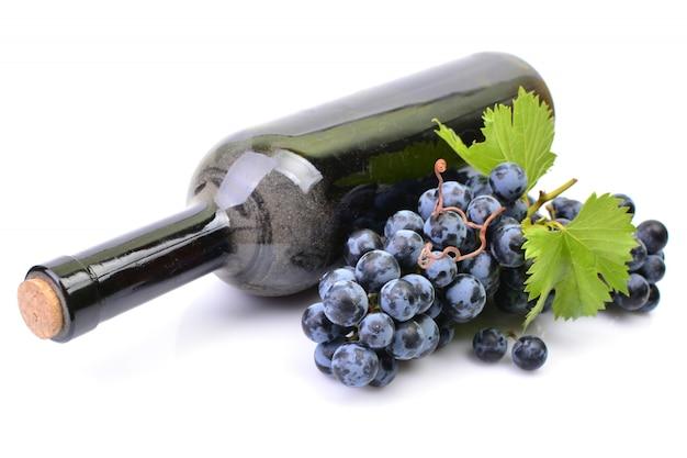 Butelka wina białe