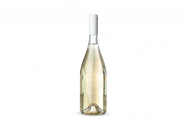 Butelka wina na białym tle