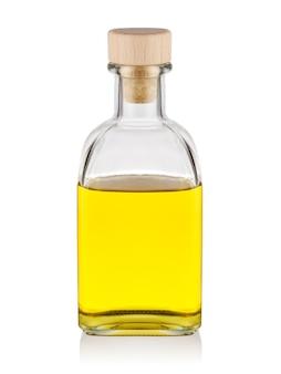 Butelka żółtego oleju