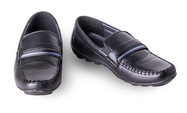 Buty dziecięce mokasyny na białym tle
