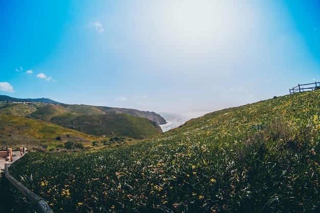 Cabo da roca w sintrze z zielonym widokiem