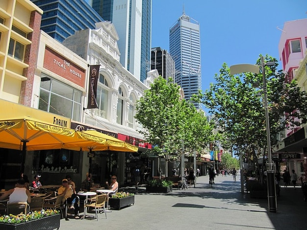 Cafe perth miasta australia sklepy miasto sklepach