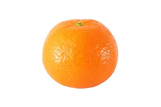 Całe tangerine owoc odizolowywać na białym tle