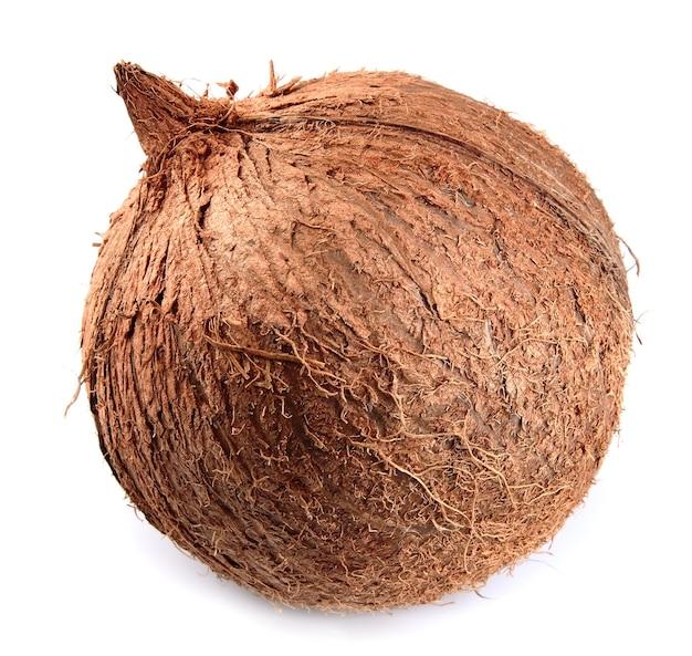 Cały kokos na białym