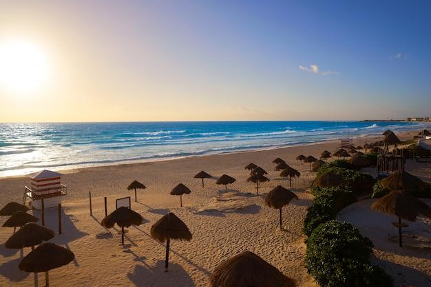 Cancun sunrise w delfines beach meksyk
