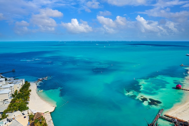 Cancun z lotu ptaka hotel zone of mexico
