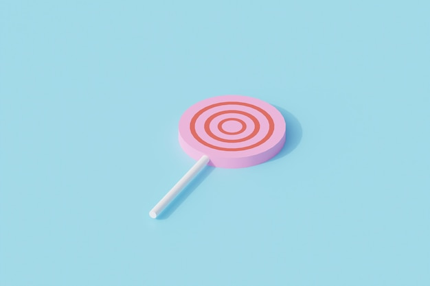 Candy pojedynczy obiekt na białym tle. renderowanie 3d