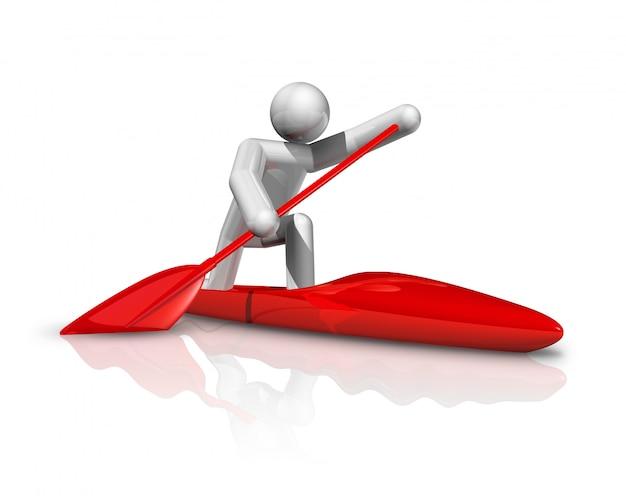 Canoe sprint 3d symbol