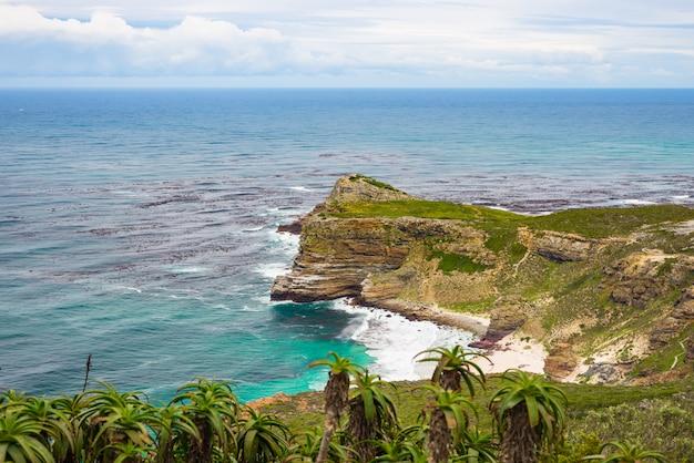 Cape of good hope i dias beach, oglądane z cape point