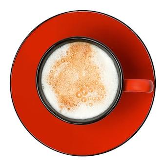 Cappuccino na białym tle